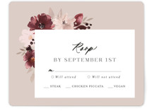 This is a red rsvp card by Itsy Belle Studio called Emyn with standard printing on signature in standard.