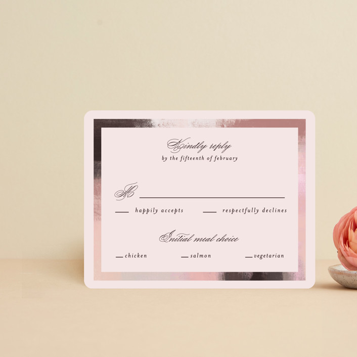 """""""Soft Overlay"""" - Rsvp Cards in Cloud by Mansi Verma."""