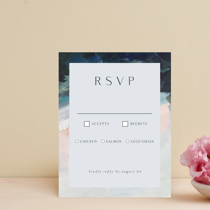"""""""Evelyn"""" - Rsvp Cards in Capri by Nicole Walsh."""
