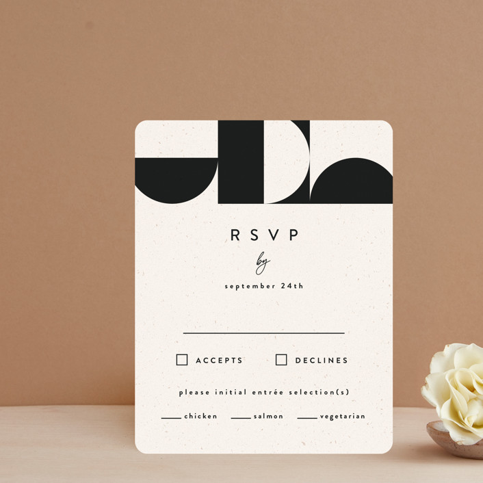 """""""Kenai"""" - Modern Rsvp Cards in Shadow by Carly Reed Walker."""