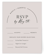 This is a brown rsvp card by Jill Means called Overjoyed with standard printing on signature in standard.