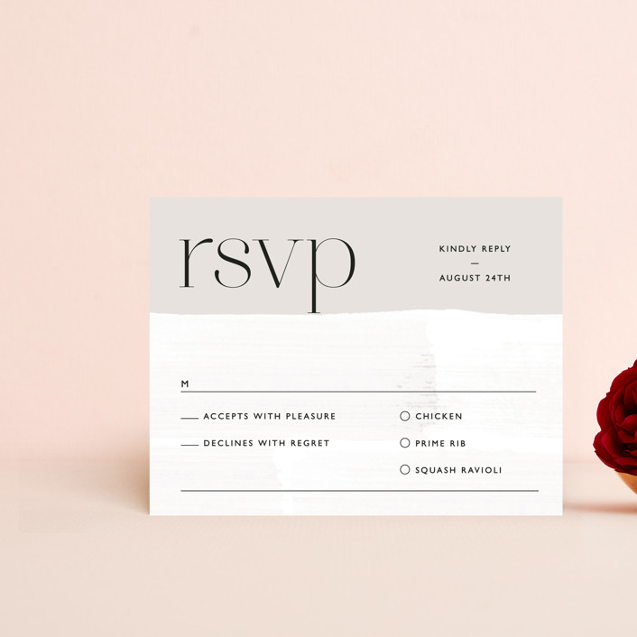 """""""Swoon"""" - Rsvp Cards in Cream by Lindsay Stetson Thompson."""