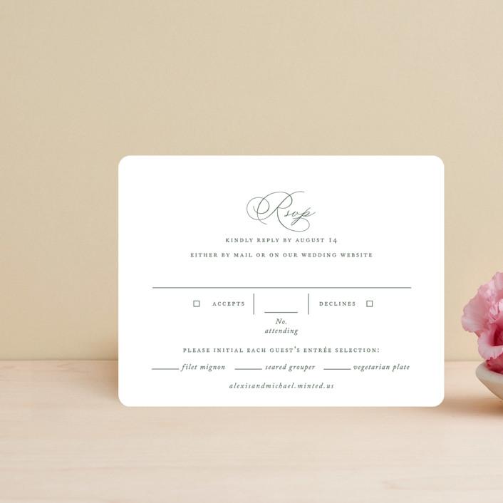 """Initial"" - Rsvp Cards in Sage by Jennifer Postorino."