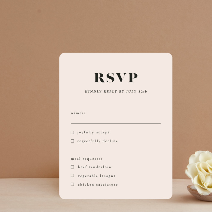 """""""Finally"""" - Funny Rsvp Cards in Ivory by Up Up Creative."""