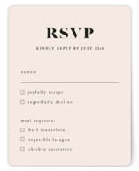 This is a beige rsvp card by Up Up Creative called Finally with standard printing on signature in standard.