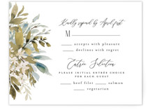 This is a white rsvp card by Chris Griffith called Wedding Festive with standard printing on signature in standard.
