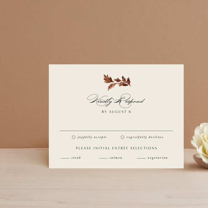 """""""poetique"""" - Rsvp Cards in Autumn by Kate Ahn."""