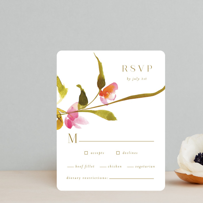 """""""colorwash floral"""" - Rsvp Cards in Blossom by Angela Marzuki."""