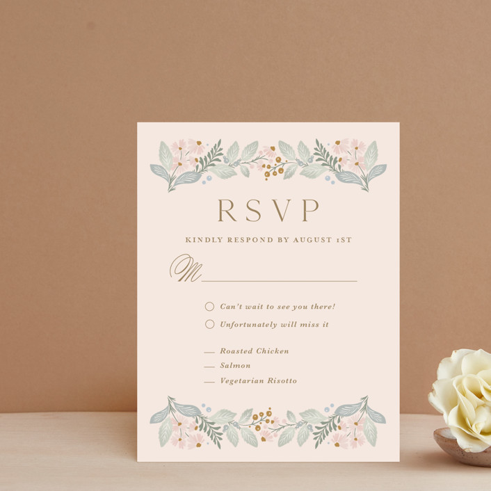 """Wild Flora"" - Rsvp Cards in Blossom by Kristen Smith."