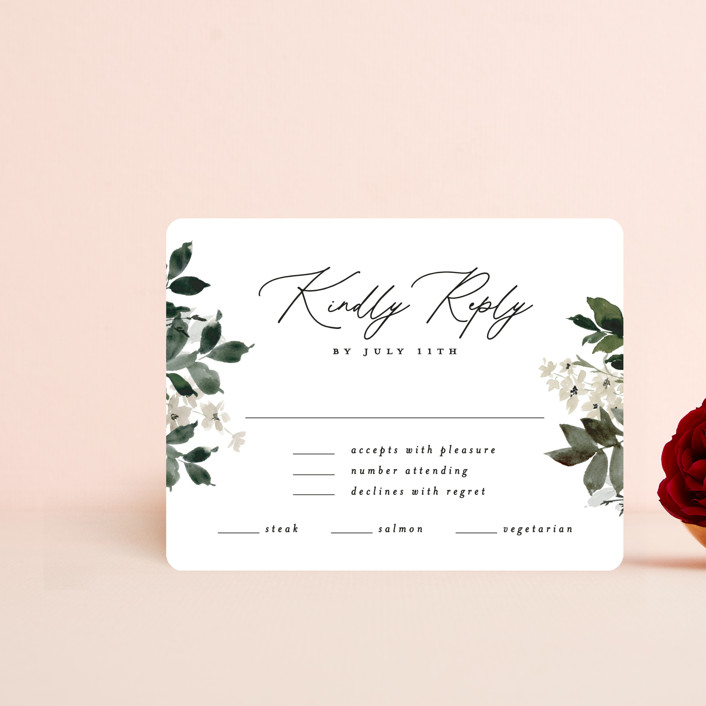 """""""Grove"""" - Rsvp Cards in Meadow by Everett Paper Goods."""