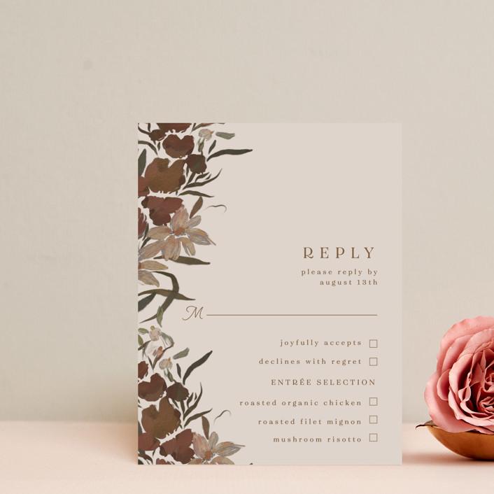"""""""Fall Garden Bouquet"""" - Rsvp Cards in Rust by Grace Kreinbrink."""