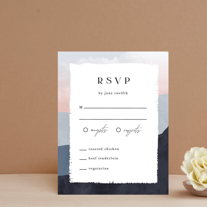 """""""scene"""" - Rsvp Cards in Sunrise by Pixel and Hank."""
