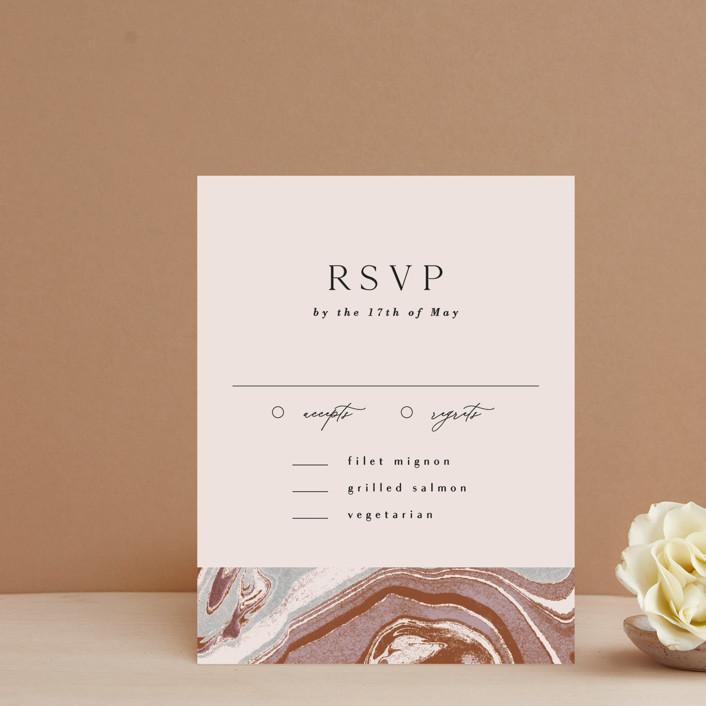 """Jasper"" - Rsvp Cards in Sandstone by Everett Paper Goods."