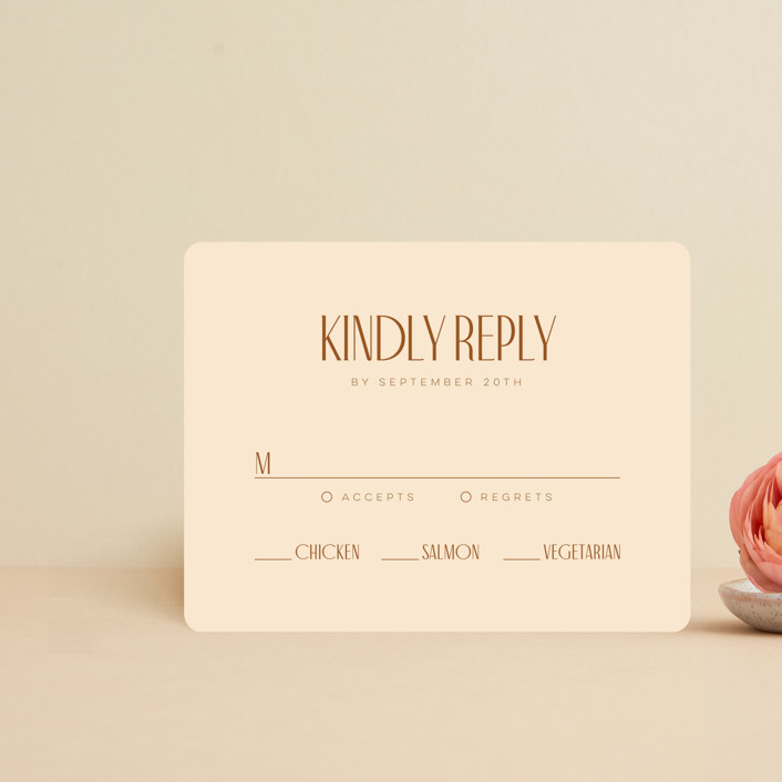 """""""Classic Touch"""" - Rsvp Cards in Rust by April Astudillo."""
