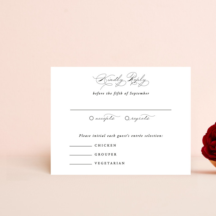 """""""Together With You"""" - Rsvp Cards in Noir by Kimberly FitzSimons."""