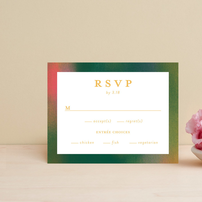 """""""Forest Love"""" - Rsvp Cards in Forest by Simona Camp."""