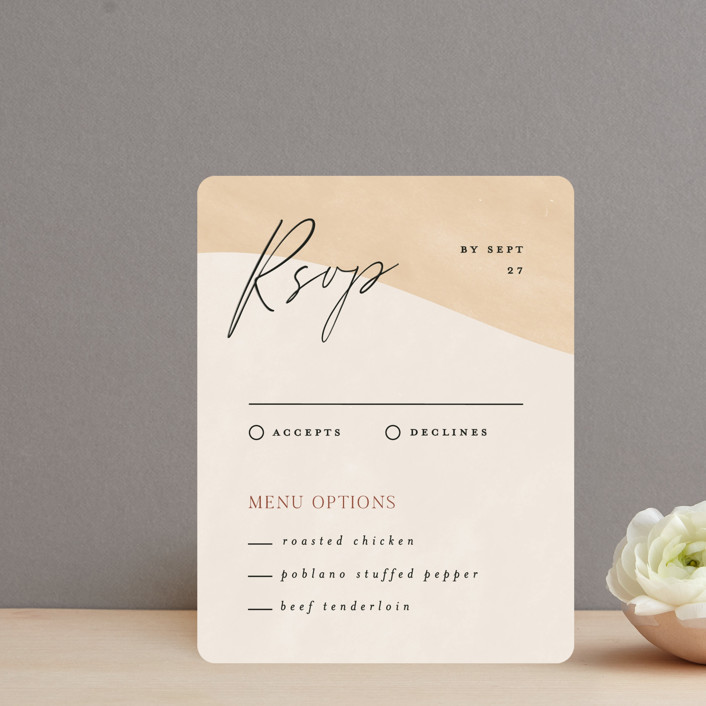 """""""Surface"""" - Modern Rsvp Cards in West by Pixel and Hank."""