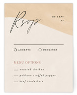 This is a brown rsvp card by Pixel and Hank called Surface with standard printing on signature in standard.