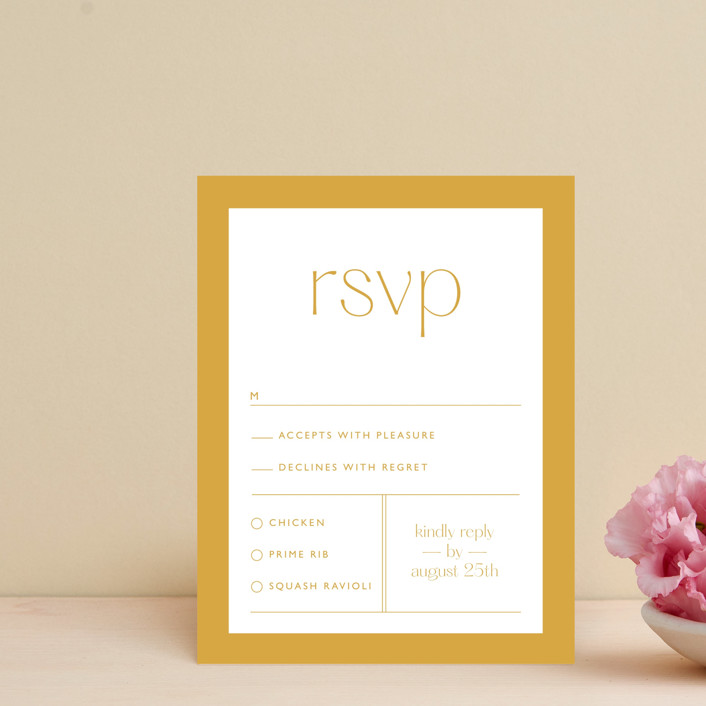 """""""goldfinch"""" - Rsvp Cards in Sunshine by Lindsay Stetson Thompson."""