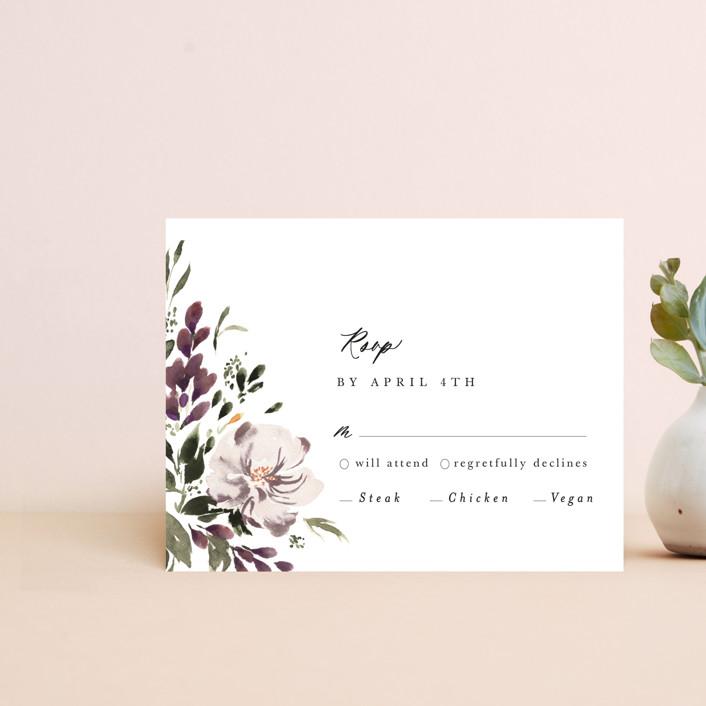 """""""iliya"""" - Rsvp Cards in Bordeaux by Itsy Belle Studio."""