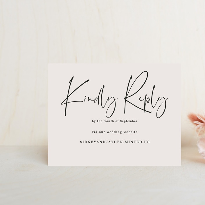 """""""stylist script"""" - Rsvp Online Enclosure Cards in Ivory by Cass Loh."""