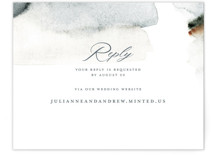 This is a grey rsvp card by Petra Kern called Grand Escape with standard printing on signature in standard.