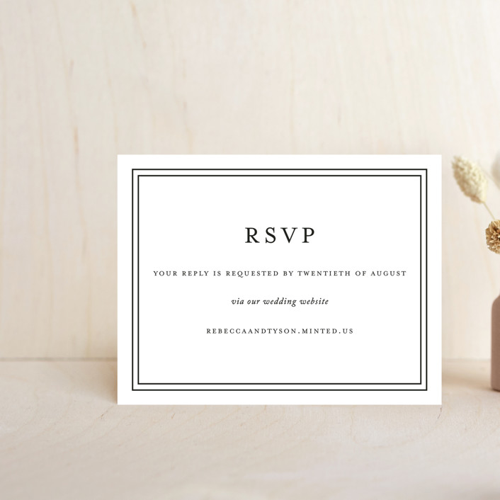 """""""Eloquence"""" - Rsvp Online Enclosure Cards in Vanilla by Kimberly FitzSimons."""