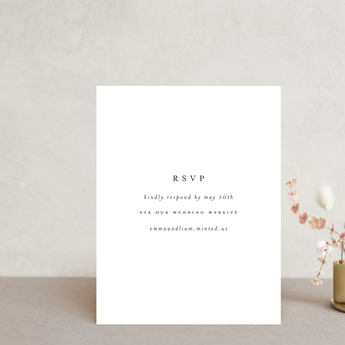 """""""A Thousand Years"""" - Rsvp Online Enclosure Cards in Classic White by Design Lotus."""