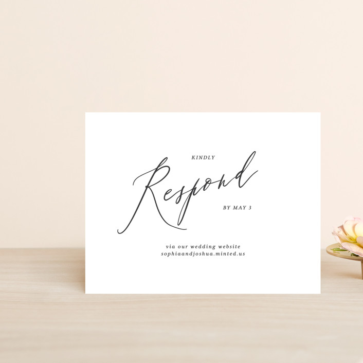 """Crescendo"" - Rsvp Online Enclosure Cards in Snow by Griffinbell Paper Co.."