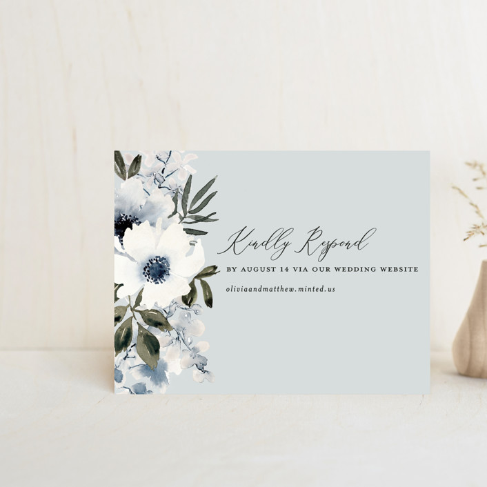 """Nantucket Romance"" - Rsvp Online Enclosure Cards in Marine by Chris Griffith."