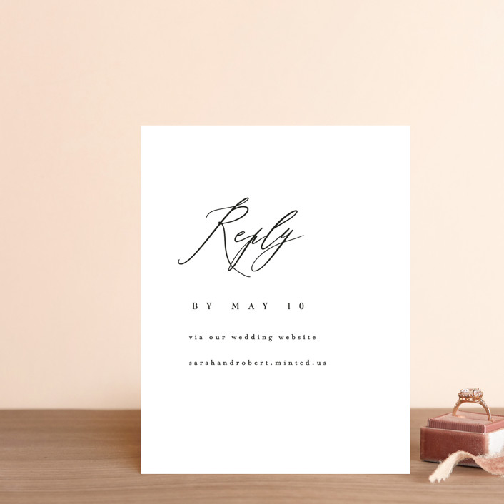 """""""Corison"""" - Rsvp Online Enclosure Cards in Classic by Kelly Schmidt."""