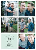 Classic Grid Save the Date Cards (Retired)