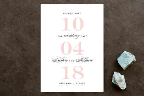 Elegantly Bold Save the Date Cards