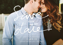 Just Us Two Simple Script Save the Date Cards (Retired)