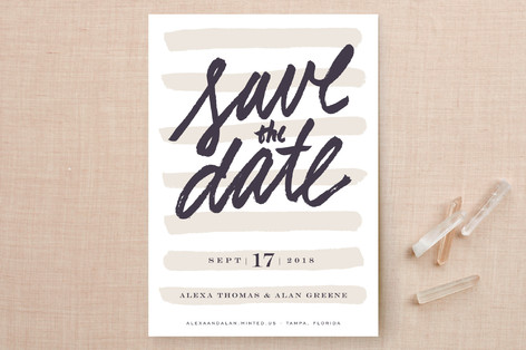 Simply Striped Save the Date Cards