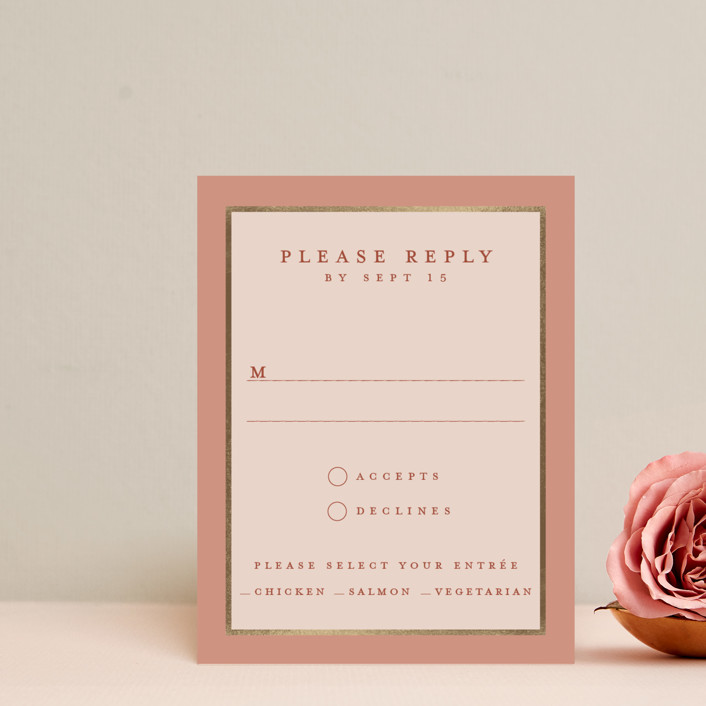 """Al Fresco"" - Foil-pressed Rsvp Cards in Forest Green by Lucrecia."