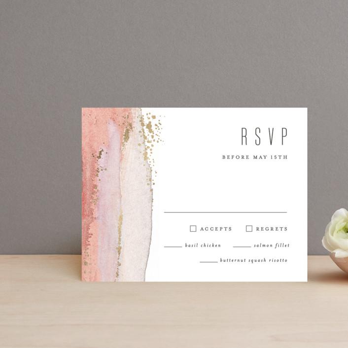 """Painted Desert"" - Modern Foil-pressed Rsvp Cards in Sandstone by Hooray Creative."