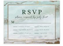Gilded Shore Foil-Pressed RSVP Cards