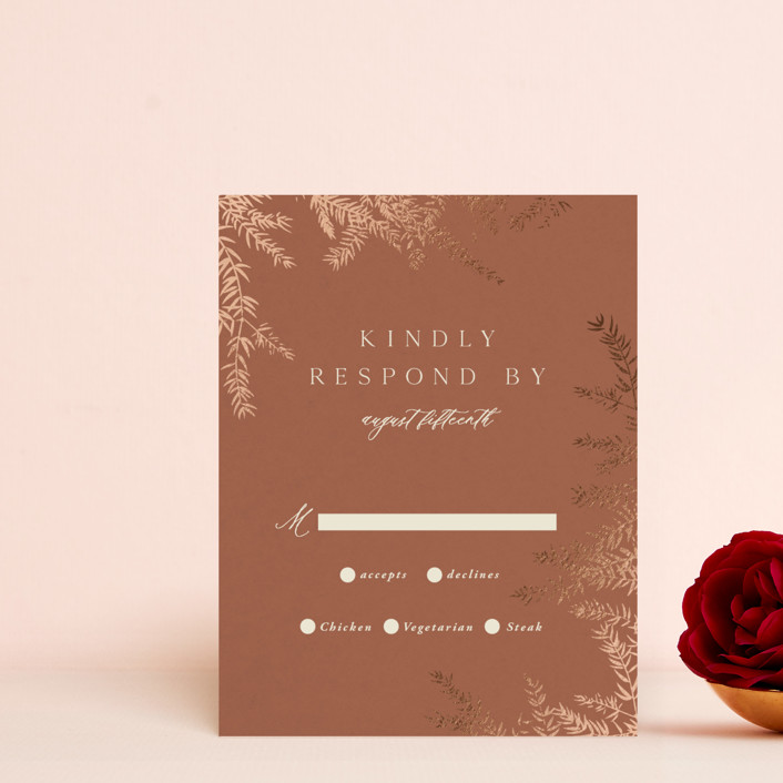 """""""Midnight Spring"""" - Foil-pressed Rsvp Cards in Midnight by Wildfield Paper Co."""