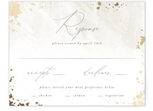 This is a grey rsvp card by Robert and Stella called Fresco with foil-pressed printing on signature in standard.