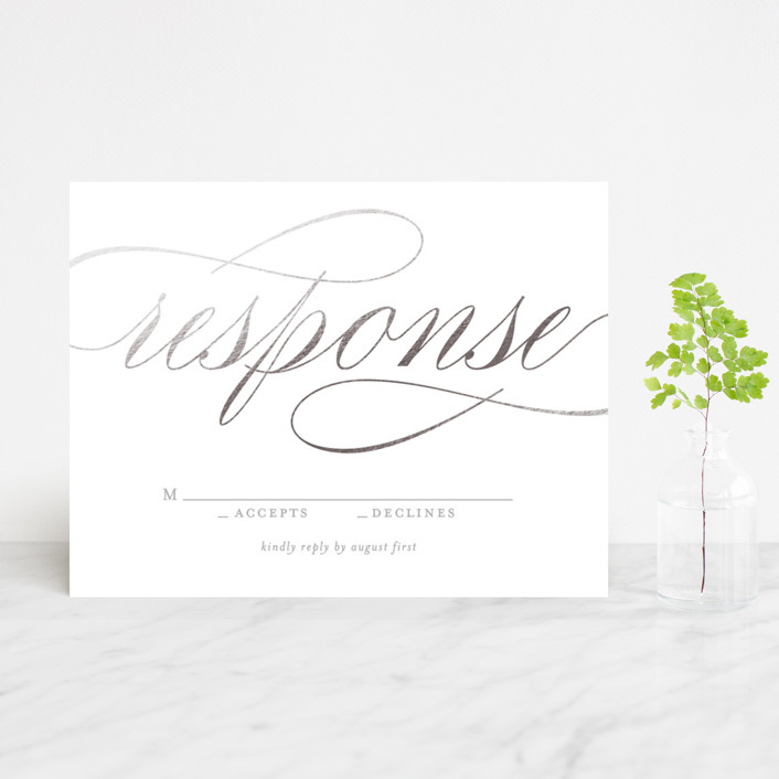 """Mist"" - Foil-pressed Rsvp Cards in Silver by Lori Wemple."