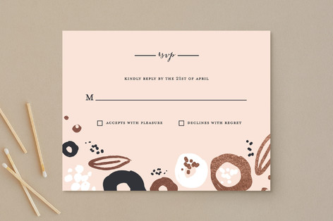 Modern Meadow Foil-Pressed RSVP Cards