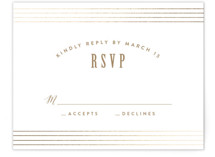 Bubbly Foil-Pressed RSVP Cards