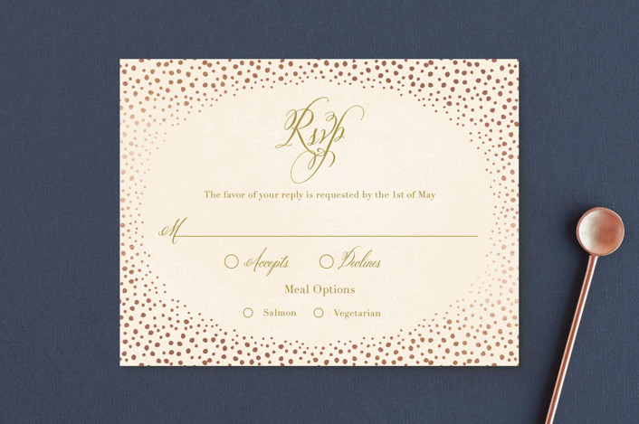 """Baby's Breath"" - Whimsical & Funny Foil-pressed Rsvp Cards in Petal by Laura Hankins."