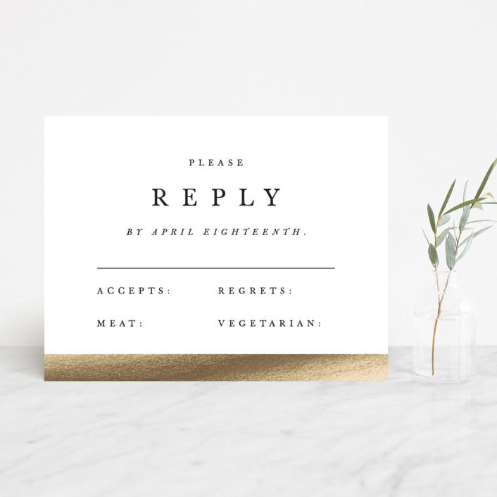"""Johannis"" - Simple, Bold typographic Foil-pressed Rsvp Cards in Ink by Jack Knoebber."