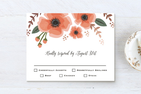 Garden Blooms Foil-Pressed RSVP Cards
