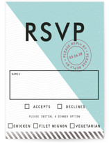 Come Fly with Us Foil-Pressed RSVP Cards