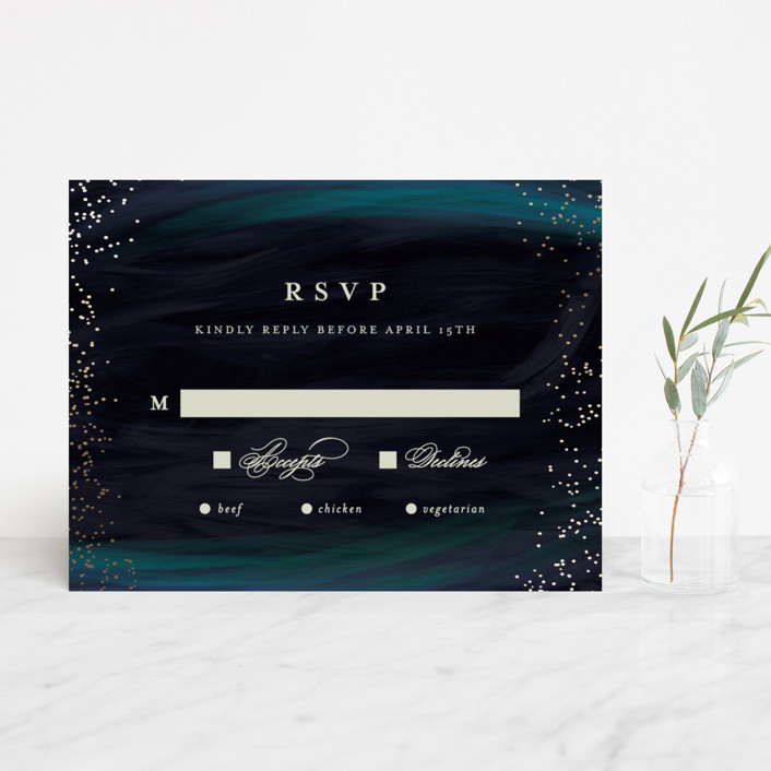 """borealis"" - Modern Foil-pressed Rsvp Cards in Zircon by chocomocacino."