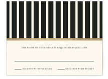 Modern Classic Foil-Pressed RSVP Cards
