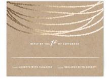 Gold Rush Foil-Pressed RSVP Cards